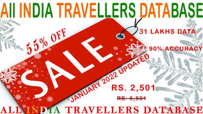 B2C Travellers Email Database